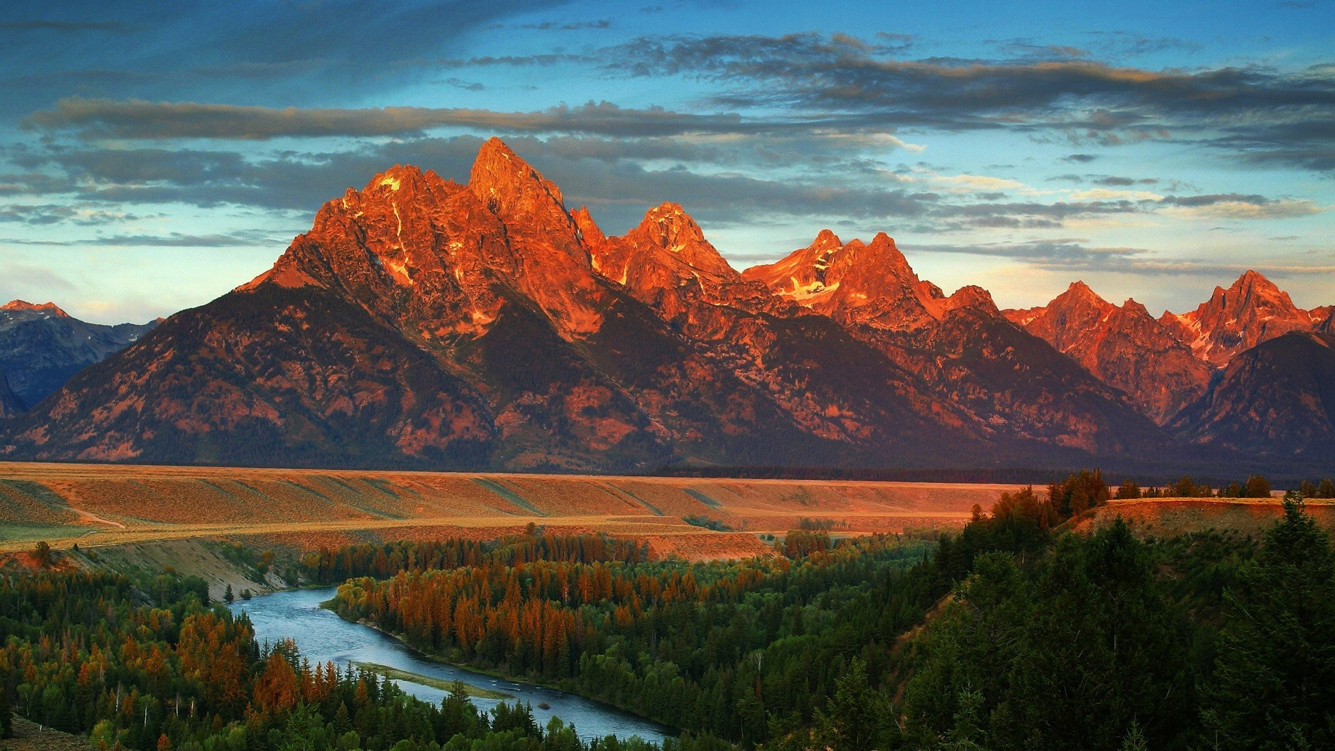 America, Wyoming, autumn