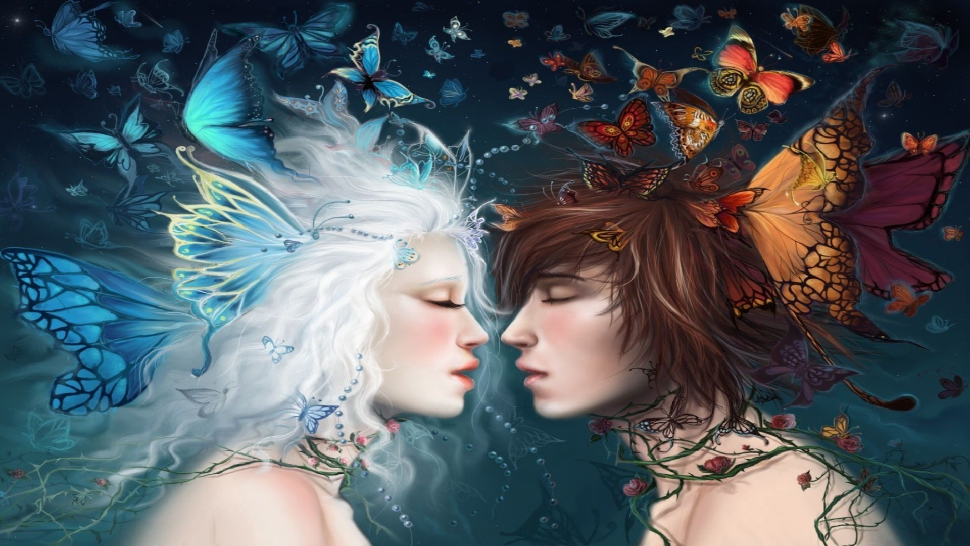 Kiss of butterflies