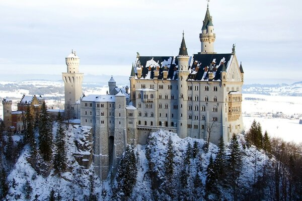 Bavaria, castle, winter