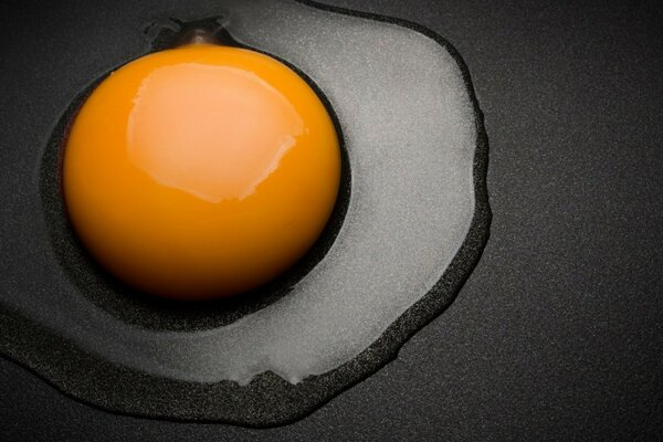 Egg in a skillet - a Breakfast for men