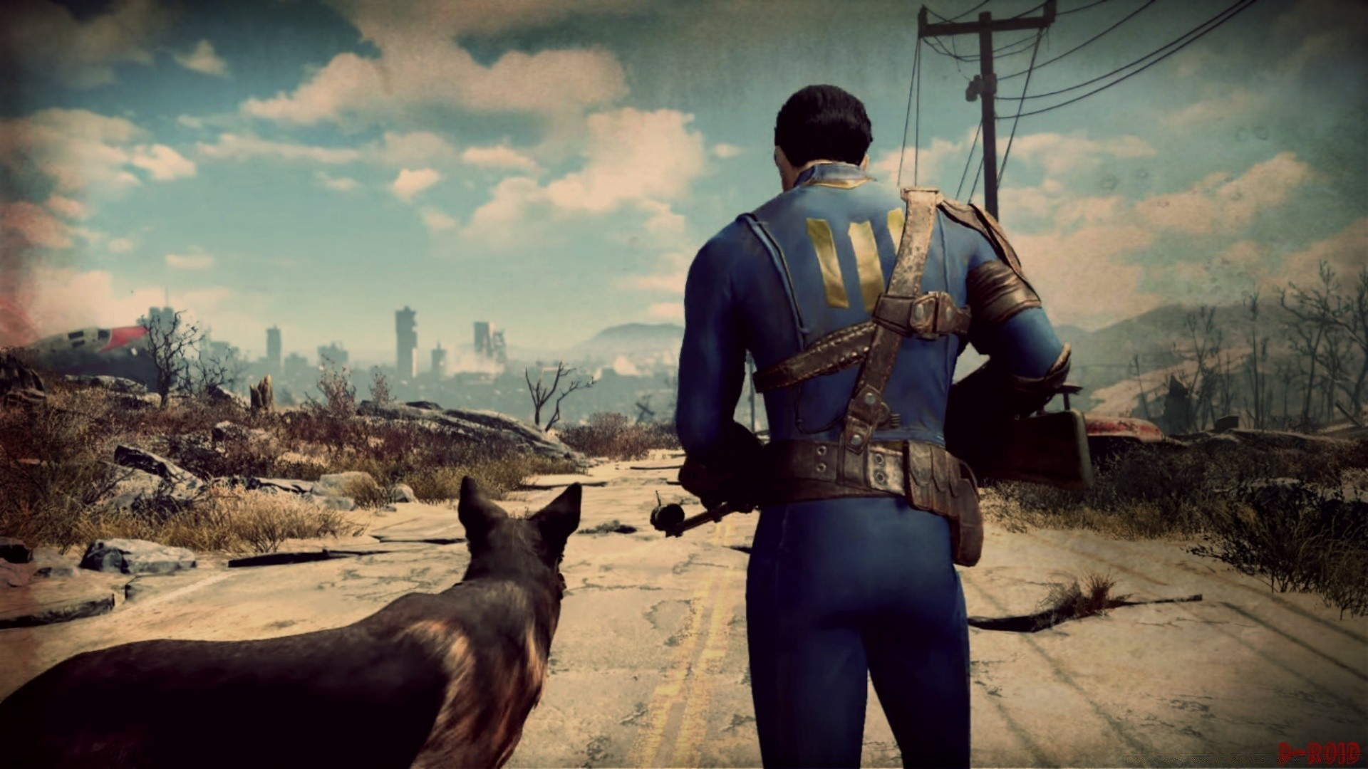 Fallout 4 A Man And His Dog Android Wallpapers