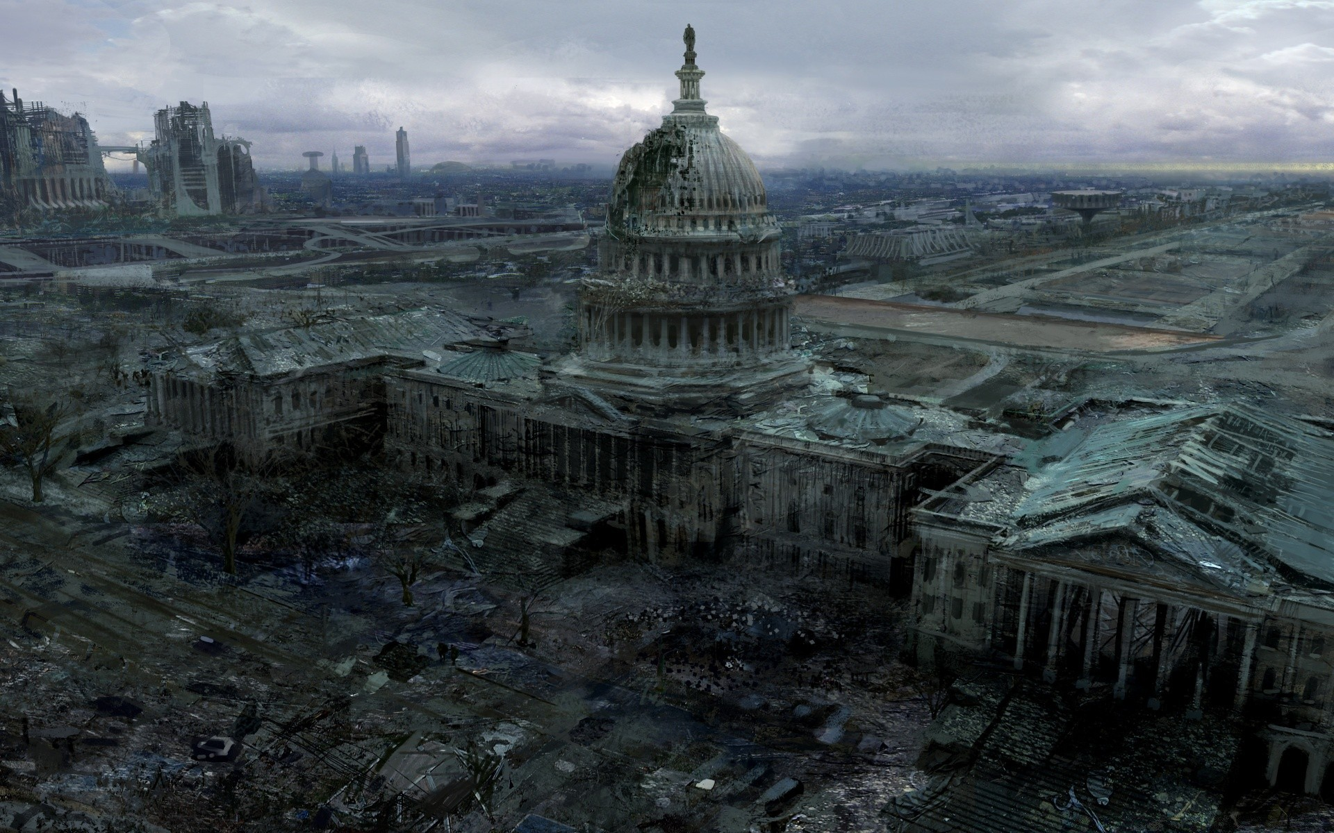 Fallout 3 Capitol Building - Android wallpapers