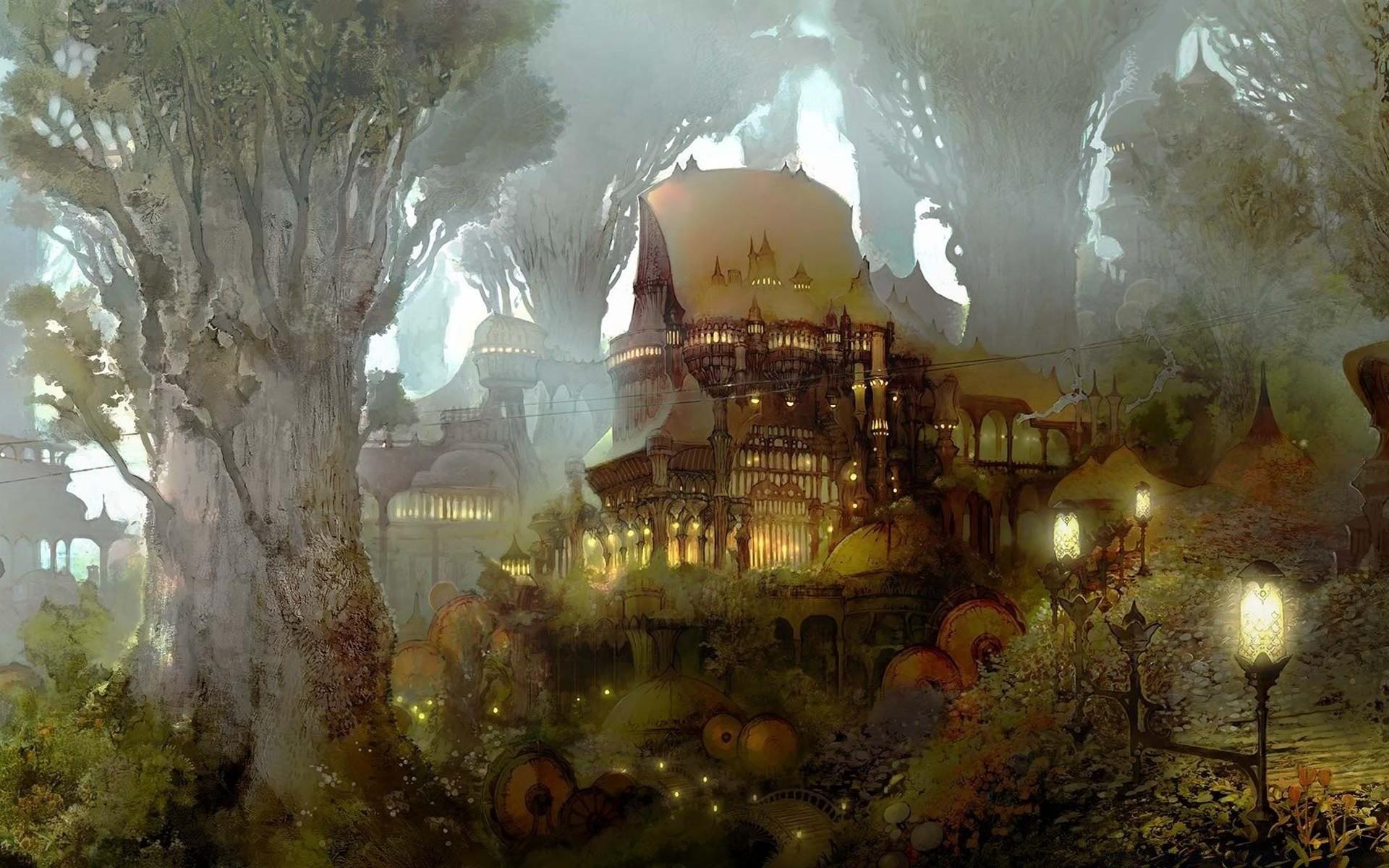 Замок в лучах света  № 917230 без смс