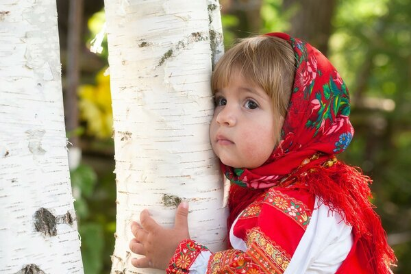 Alyonushka from birch trees