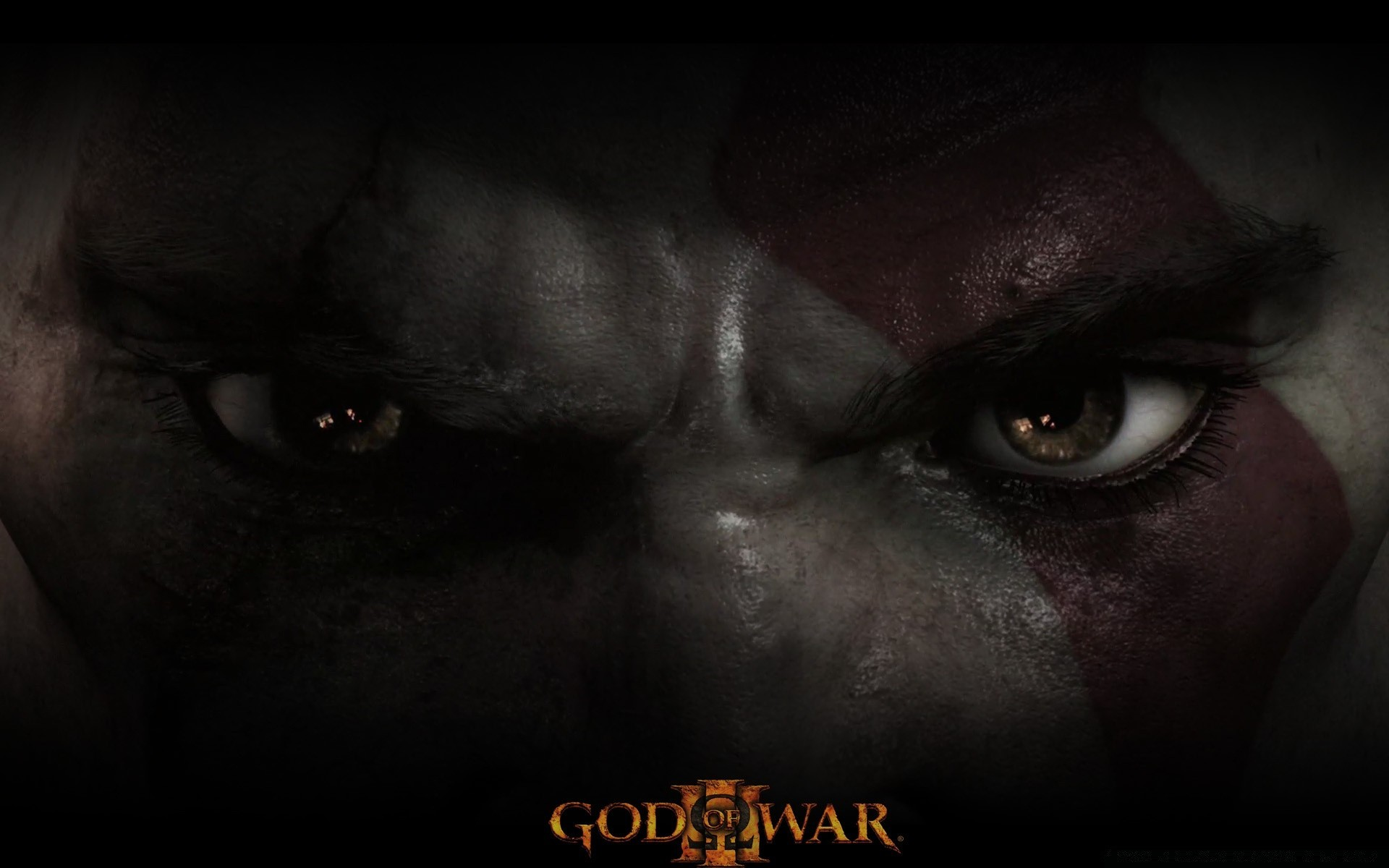 God Of War Iii Kratos Eyes Android Wallpapers