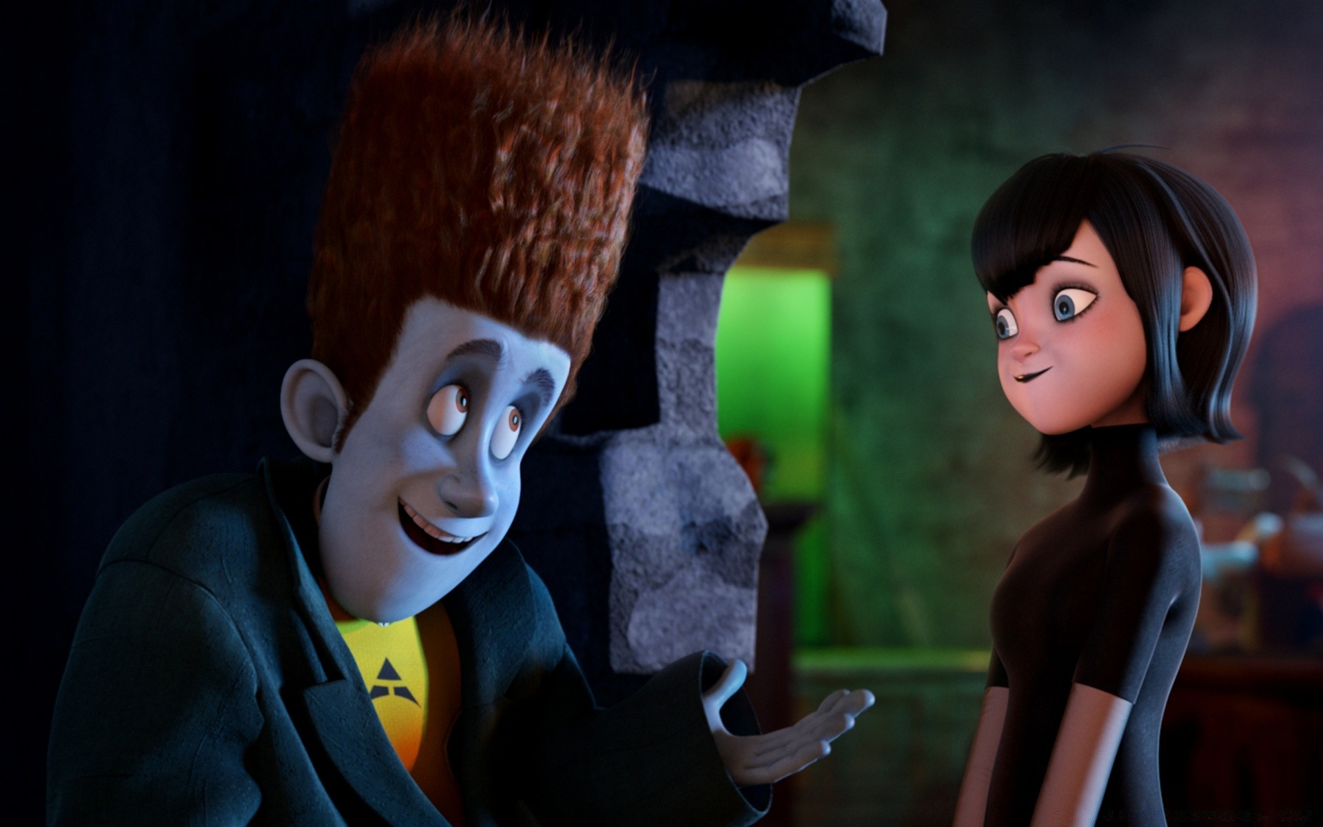 Hotel Transylvania Johnnystein And Mavis Android Wallpapers For Free