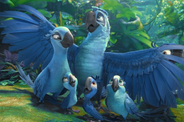 Rio 2 Blu And Jewel s Kids