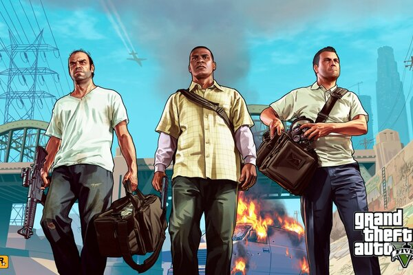 Grand Theft Auto V - Franklin, Michael & Trevor