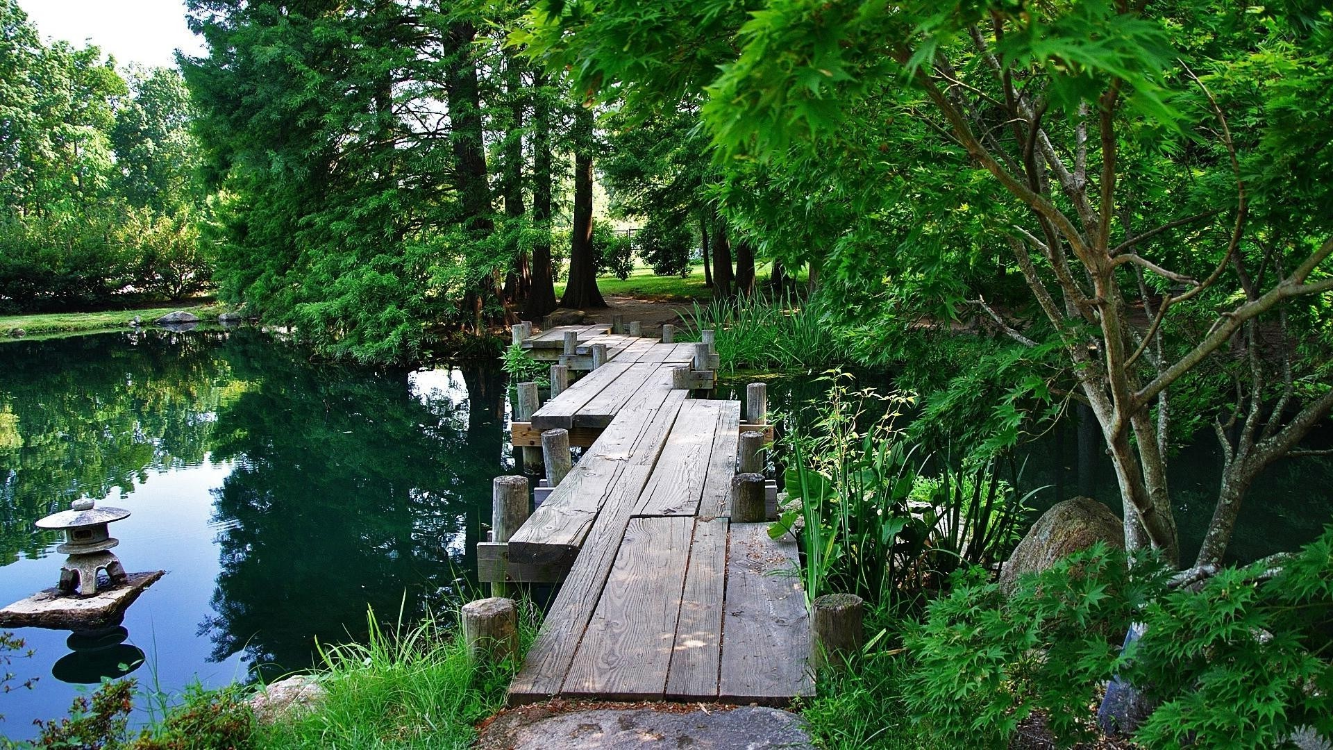 lake wood nature tree water park summer leaf landscape outdoors bridge travel guidance garden grass river environment lush flora composure