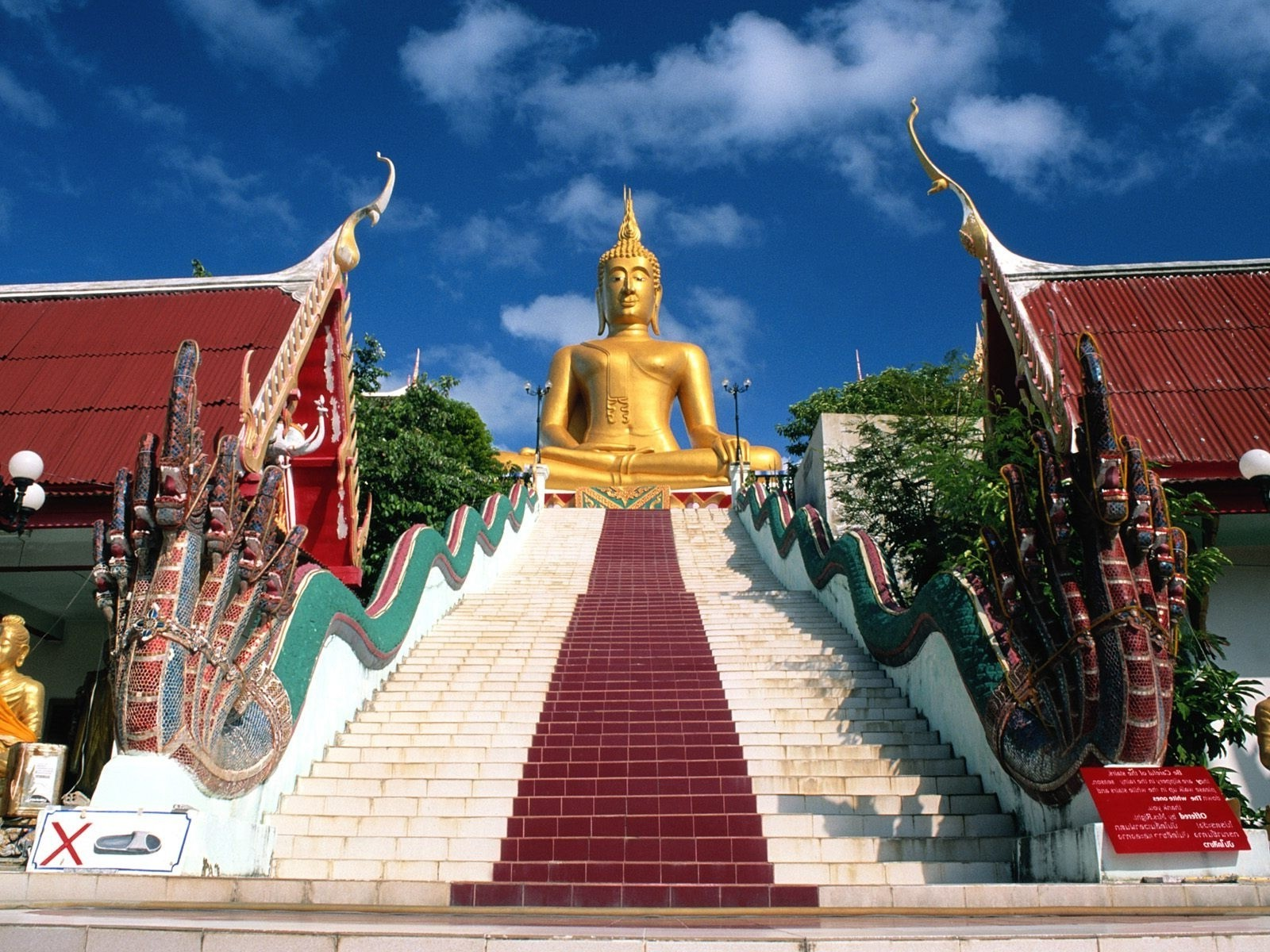 Big Buddha statue on the island of Samui, Thailand