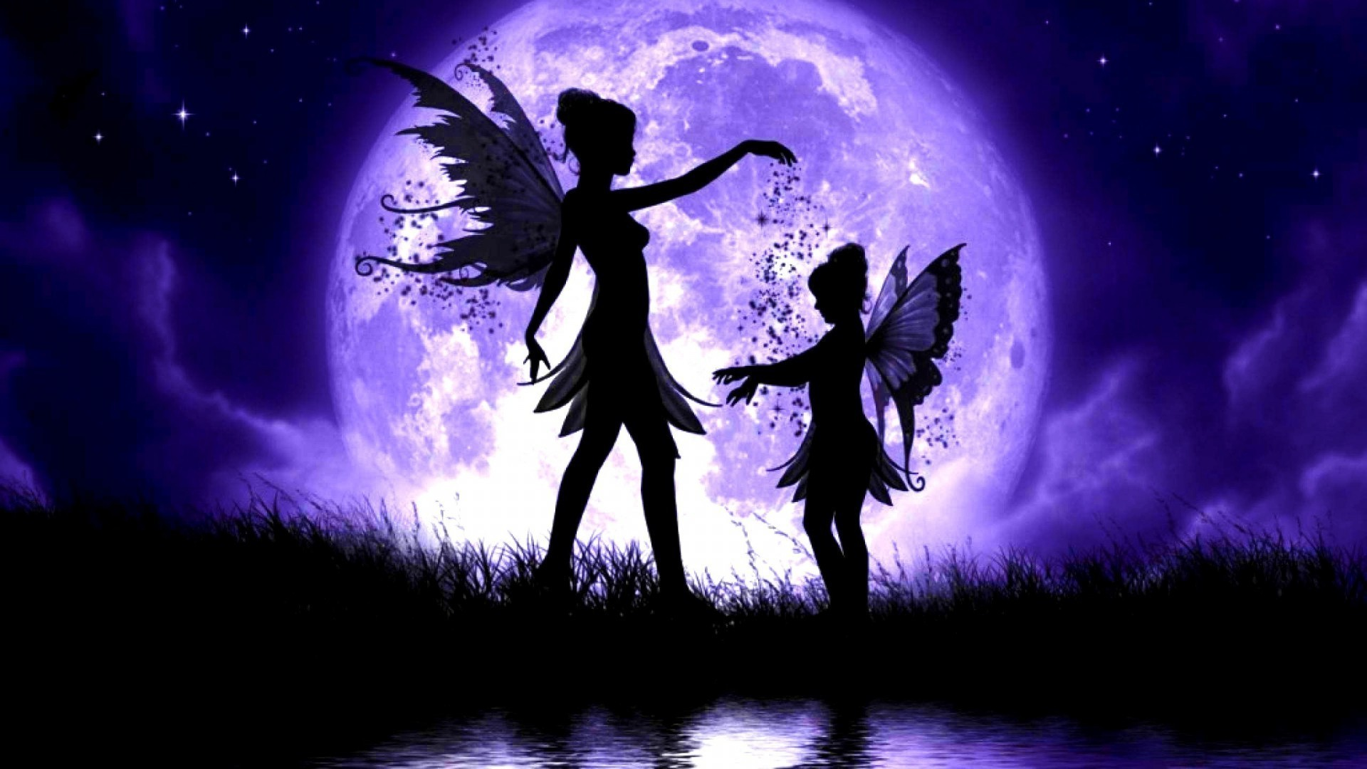 Fairies by moonlight