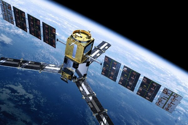 TV satellite in earth orbit
