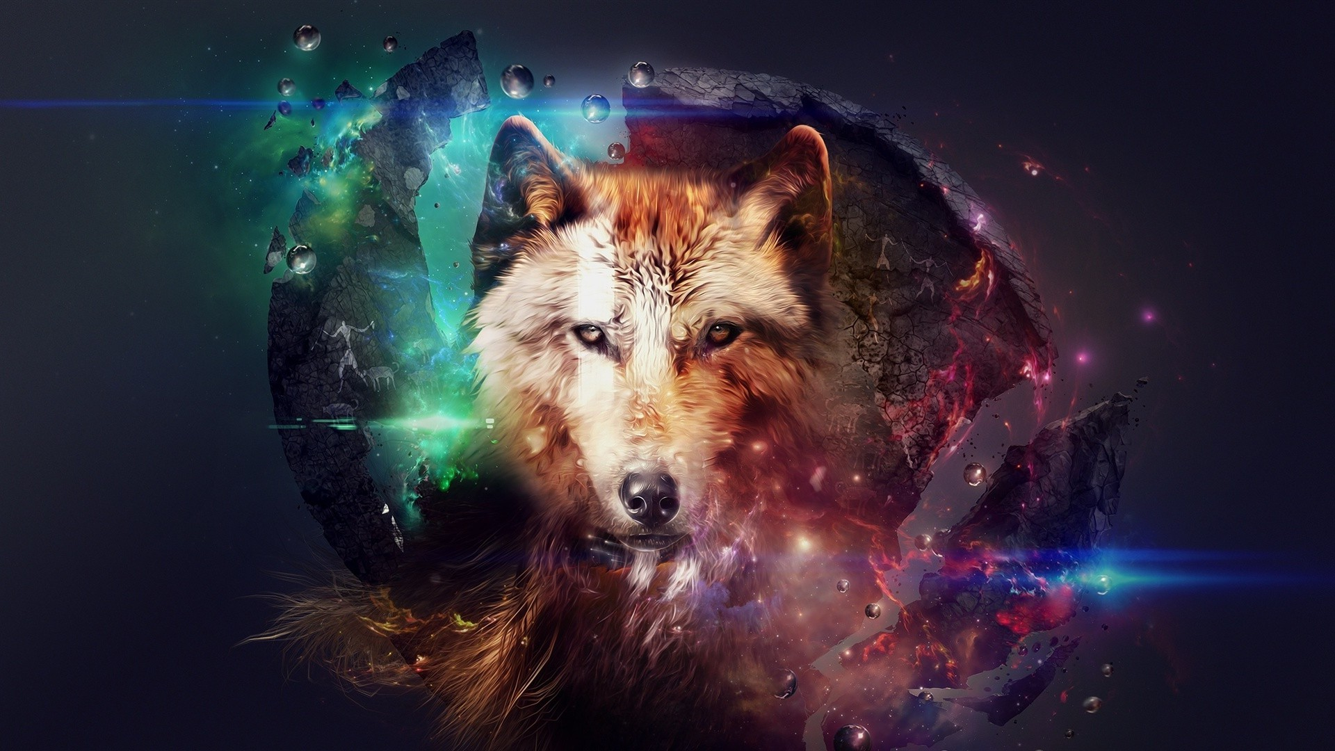 Neon Wolf Android Wallpapers For Free
