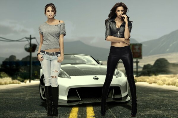 NFS The Run Irina Shayk and Chrissy Teigen