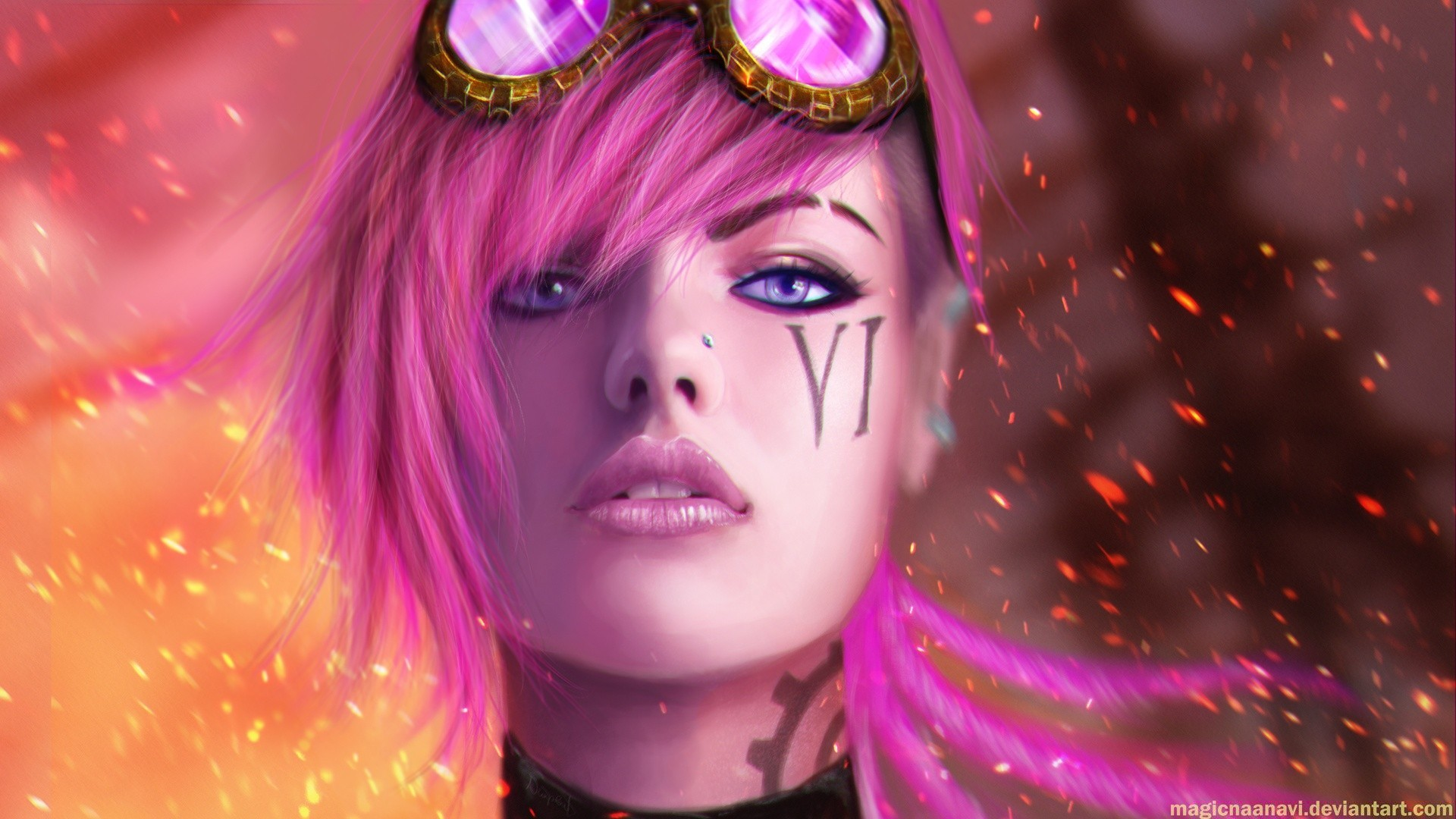 Vi The Piltover Enforcer League Of Legends Free Wallpapers