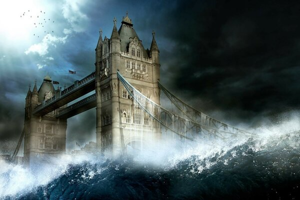 The waves, the bridge, England
