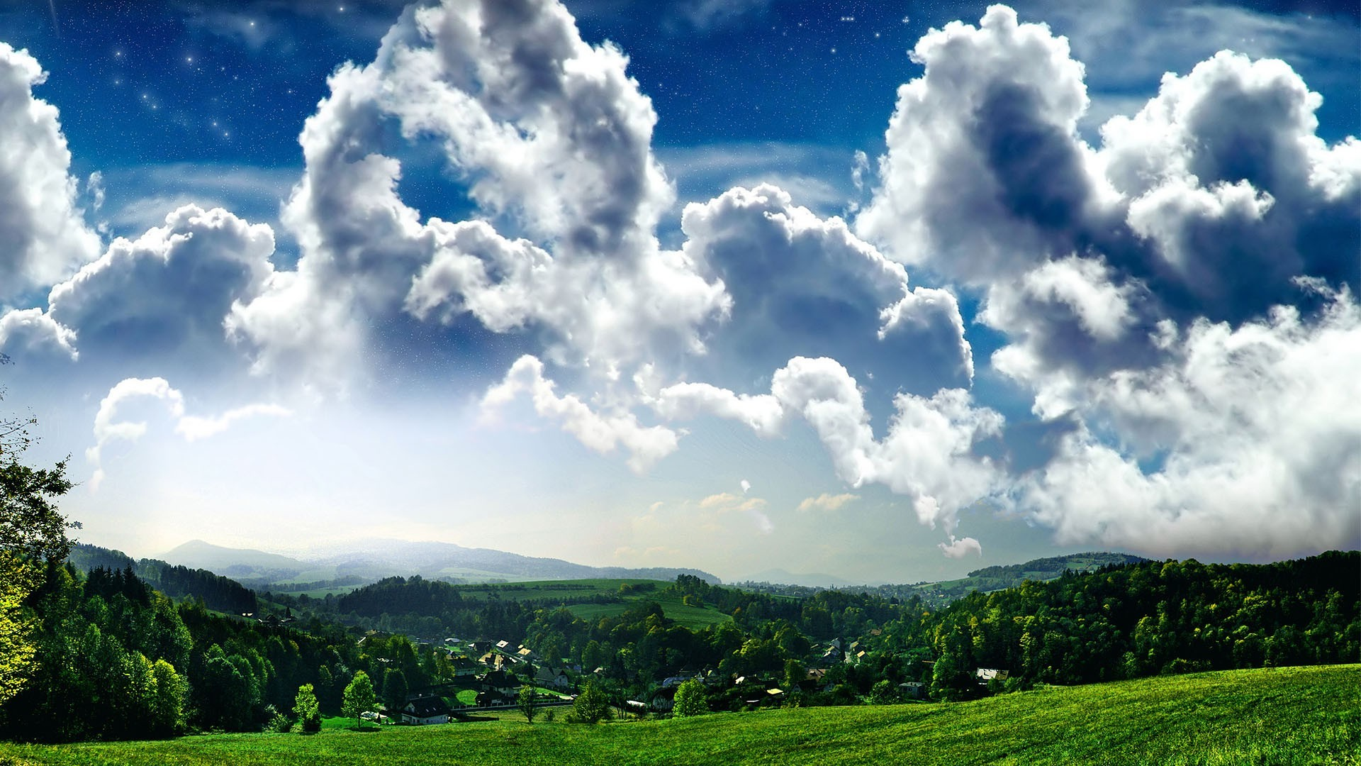 fields meadows and valleys nature landscape sky rural summer tree cloud grass outdoors hill fair weather agriculture countryside field pasture farm wood travel hayfield