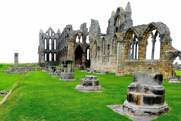 England, Whitby Abbey, North Yorkshire