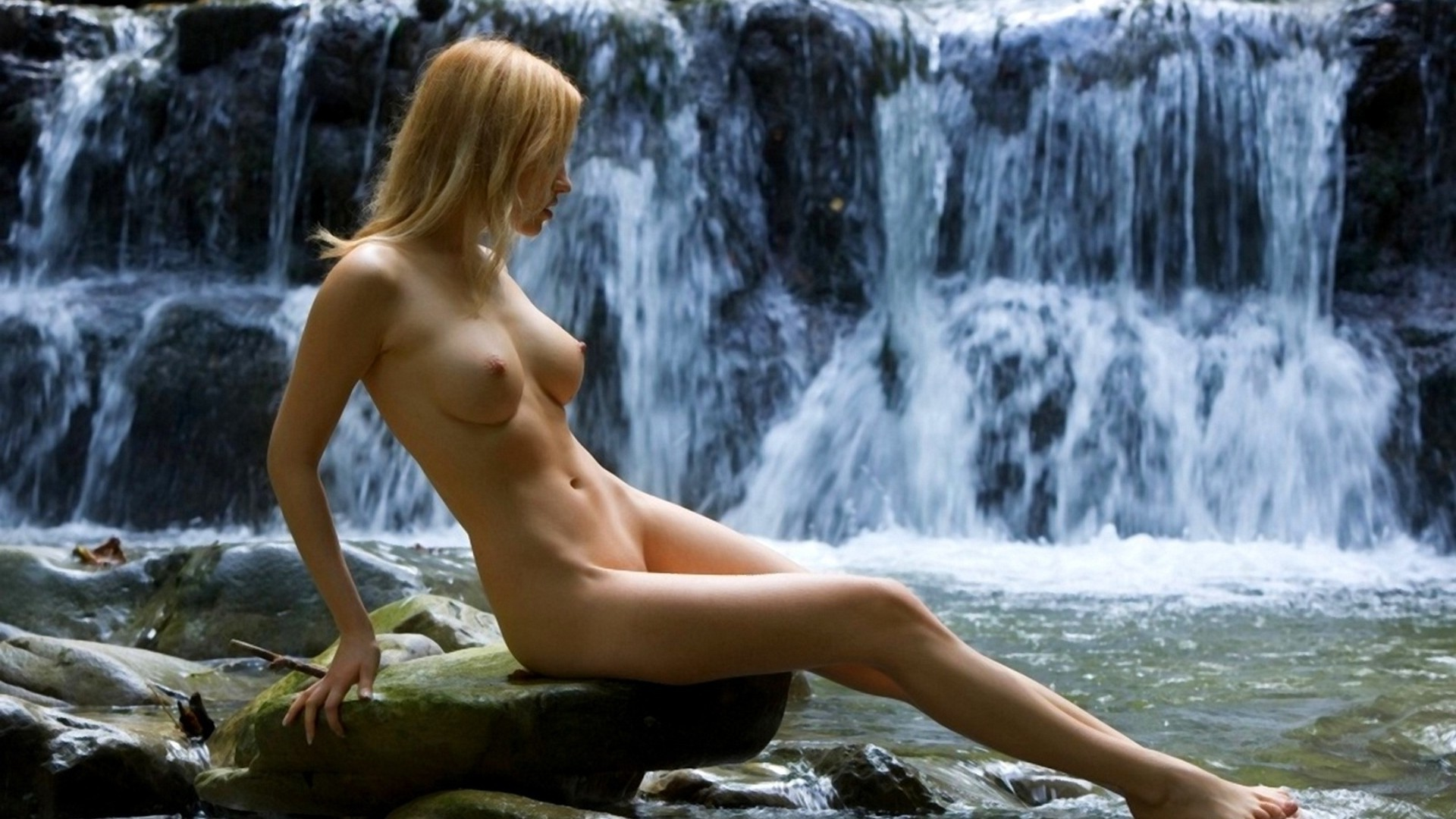 Beauty at the waterfall