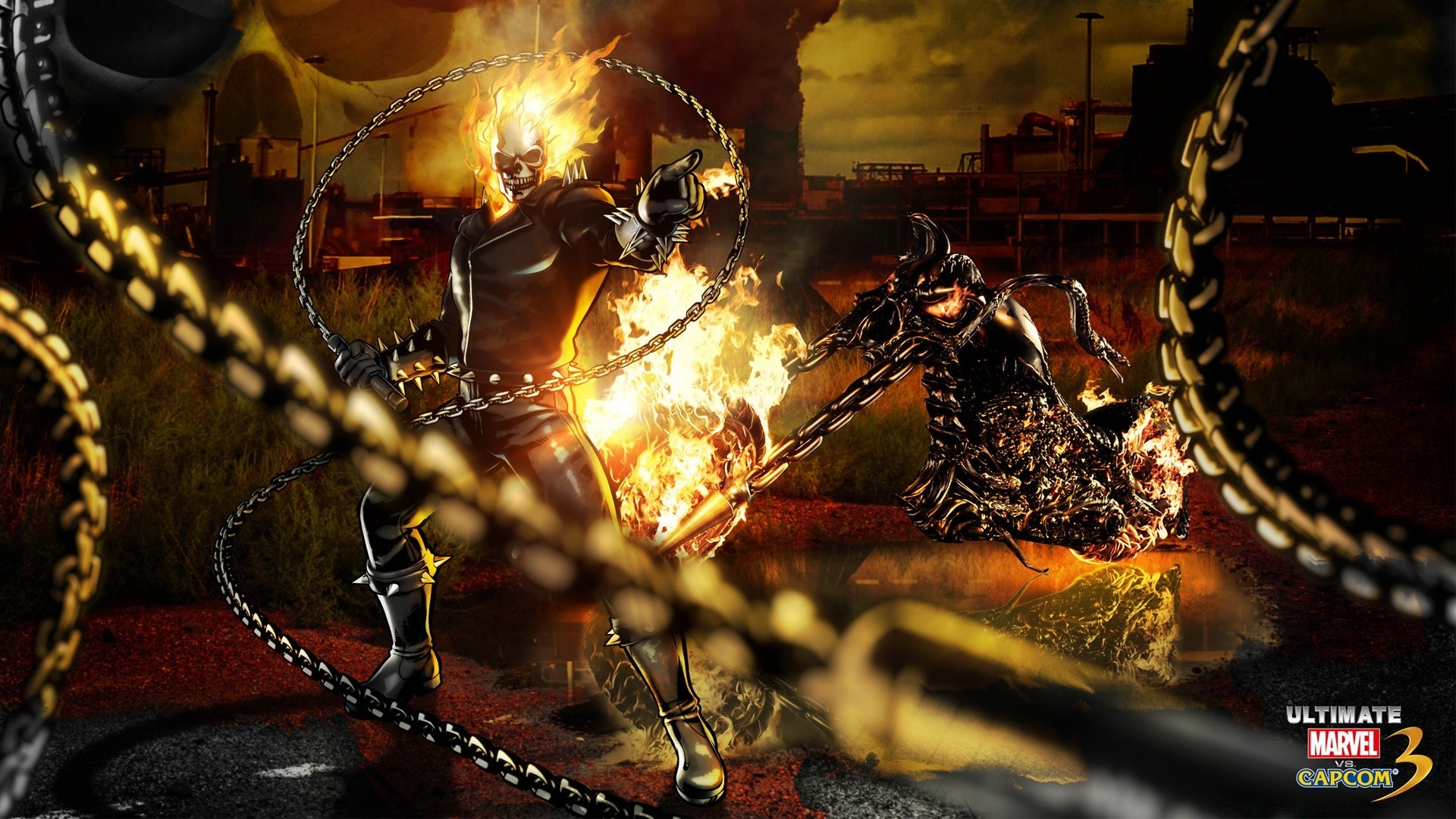 marvel vs capcom 3 - ghost rider. desktop wallpapers for free.