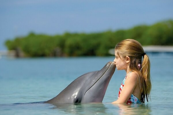 Girl and Dolphin