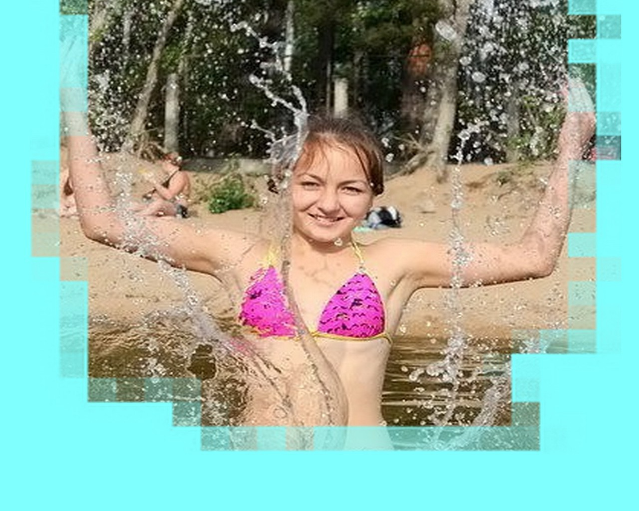 on vacation summer water wet relaxation fun leisure swimming pool nature happiness beautiful girl child woman outdoors young enjoyment joy lifestyle cheerful