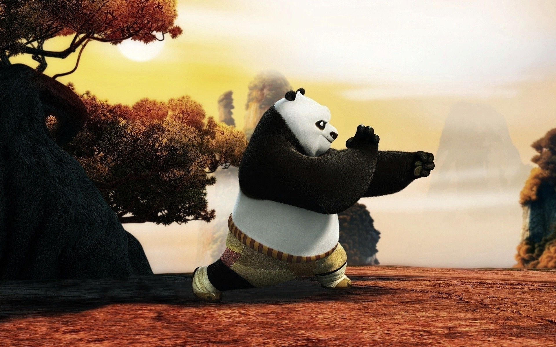 Panda Cartoon Kung Fu Panda Trains Your Techniques Android