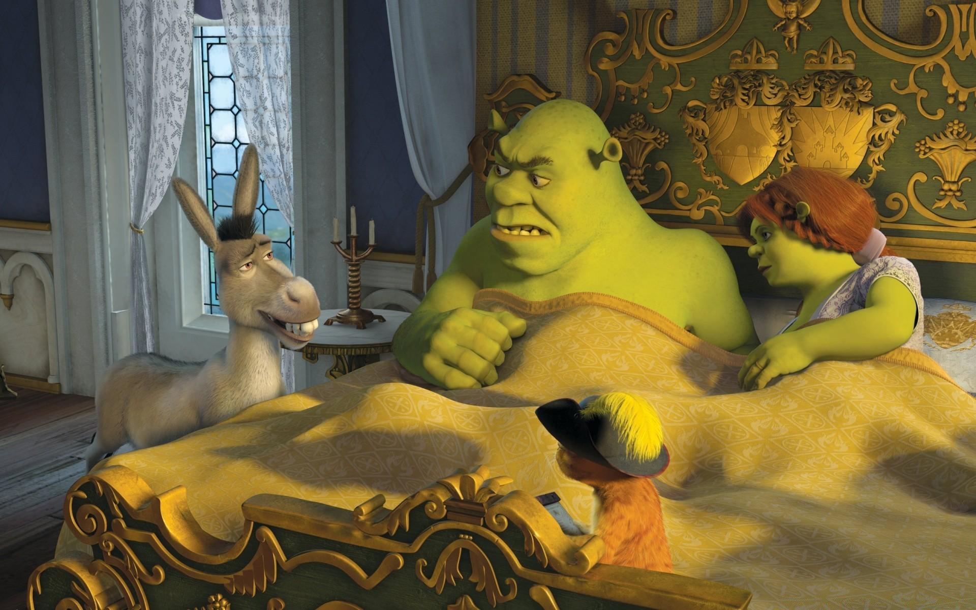 Donkey Puss In Boots Shrek And Princess Fiona Phone