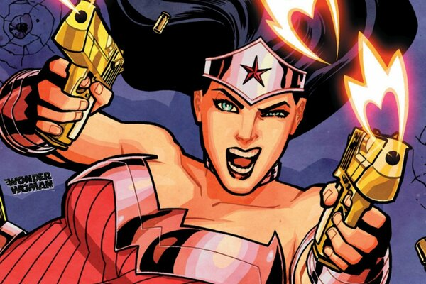 Wonder Woman Gunfight