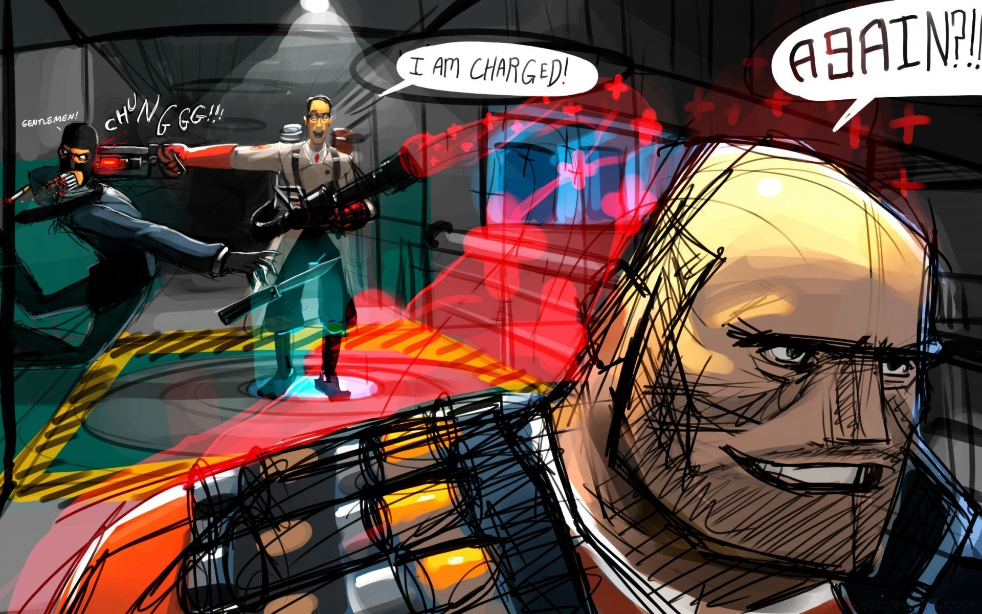 Team Fortress 2 Comic Android Wallpapers