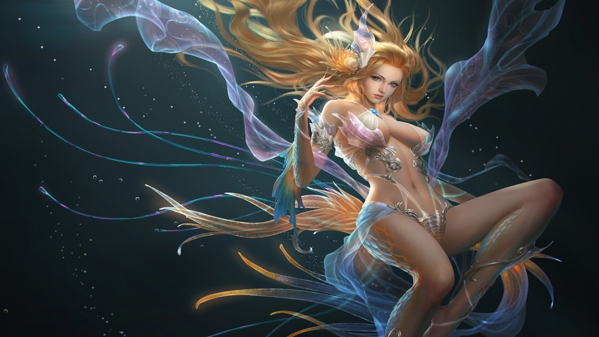 magical animals woman beautiful girl motion desktop fantasy art