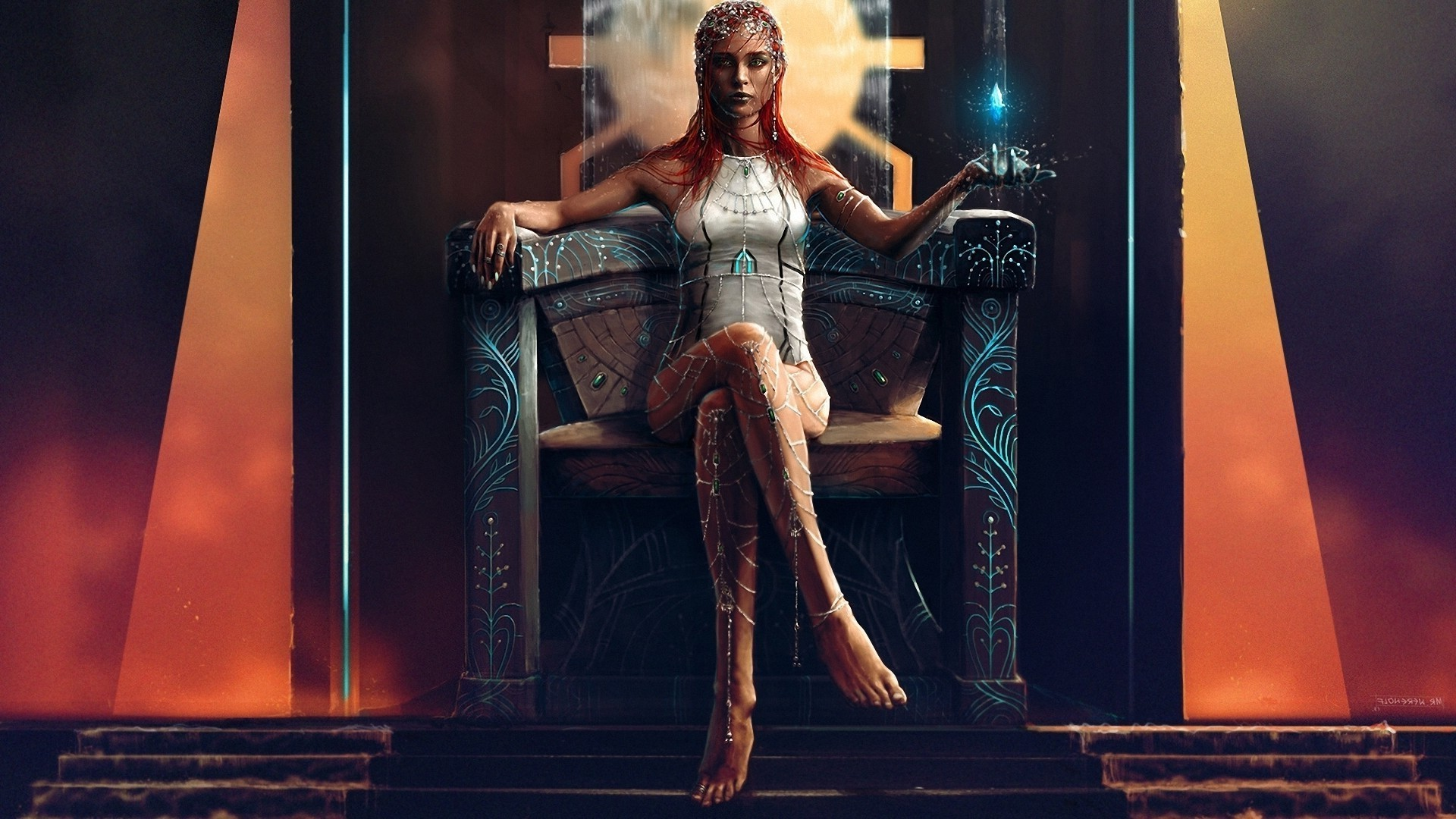 the witch on the throne