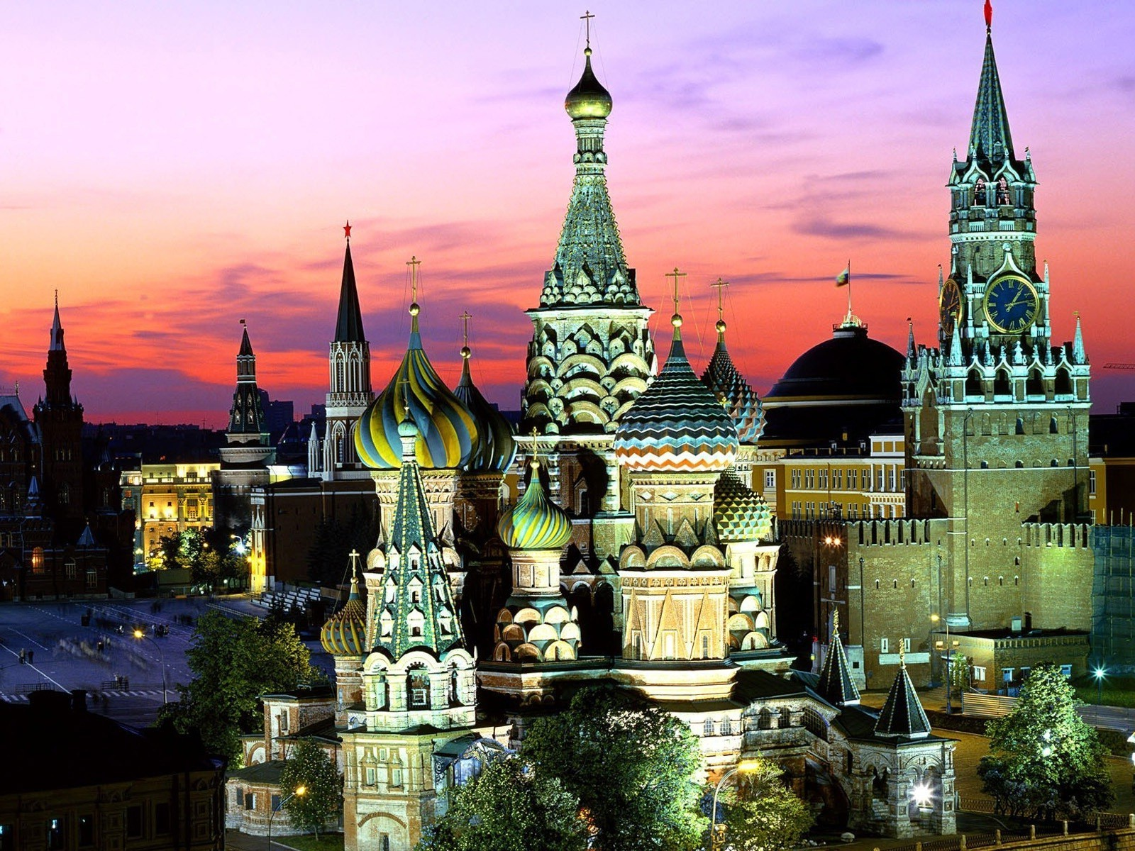 famous places architecture city church cathedral travel building sky tower kremlin dusk religion temple square sight tourism cityscape evening town culture