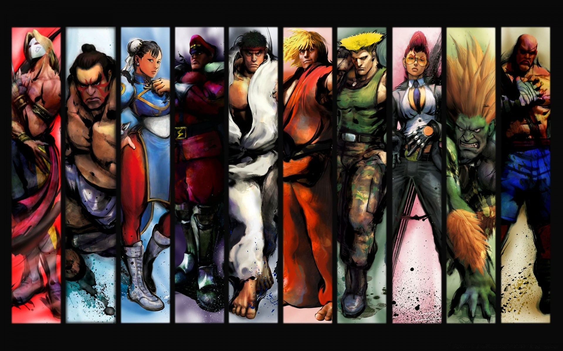 Street Fighter Characters Phone Wallpapers