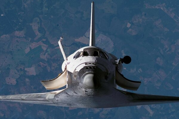 The Shuttle in flight