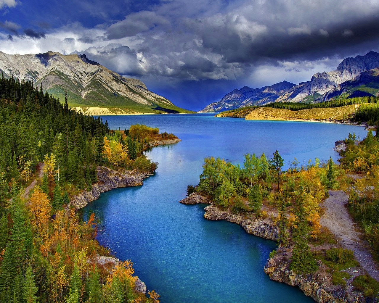 lake water nature reflection mountain travel landscape wood river outdoors fall scenic sky snow