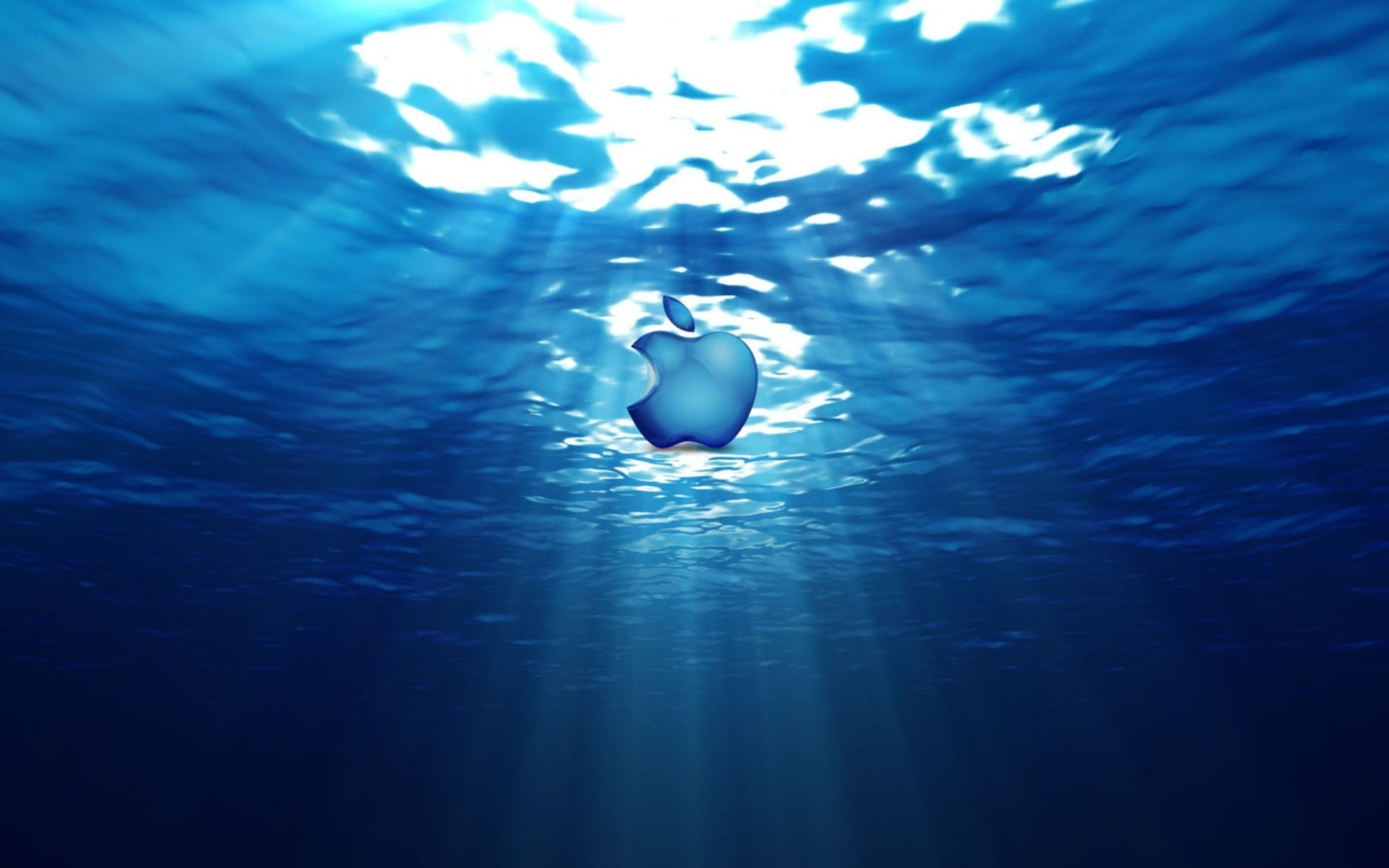 The Emblem Of Apple Under Water Android Wallpapers For Free