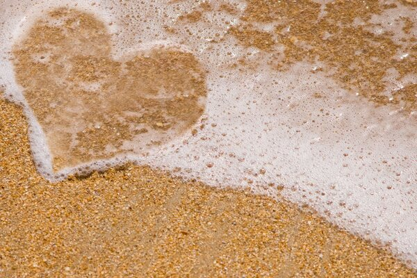 Sea foam heart