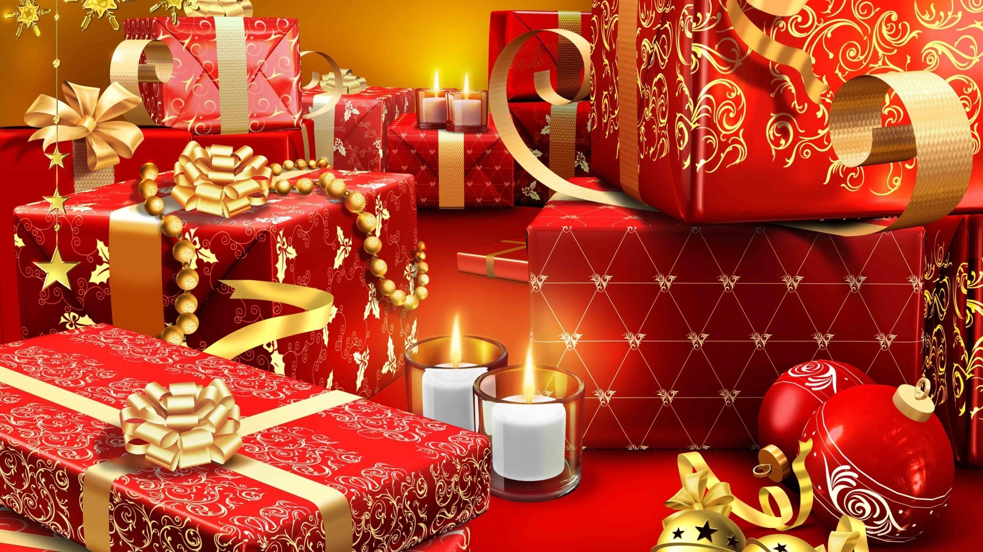 new year christmas decoration celebration interior design thread winter box gift ornate shining luxury gold surprise indoors bow birthday cozy furniture