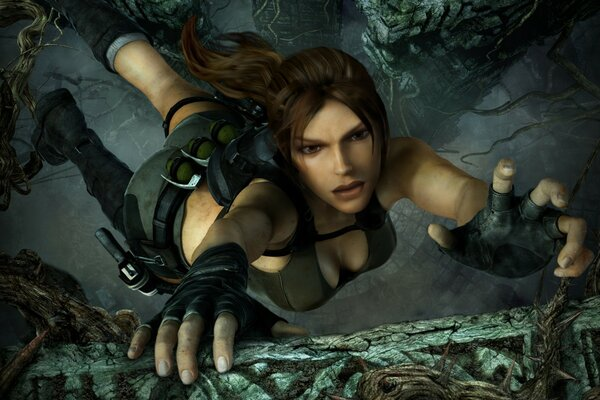 Tomb Raider Underworld Lara Croft Falling
