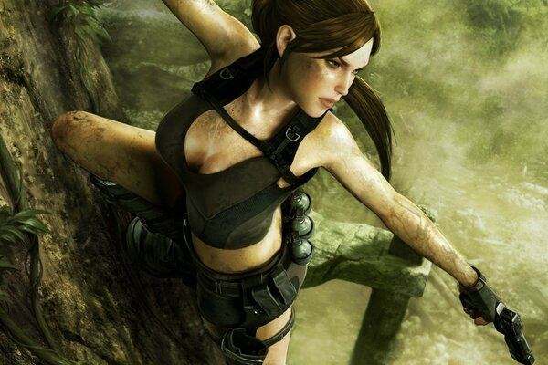 Tomb Raider Underworld Lara Croft Shooting
