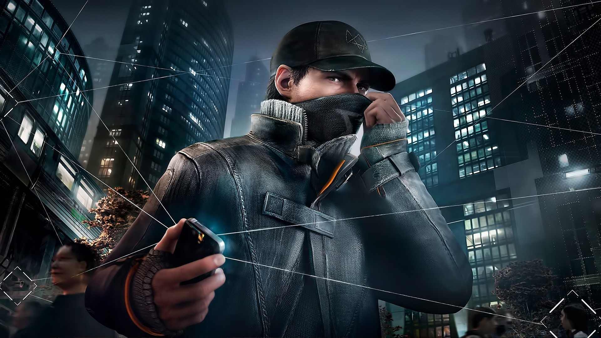 Aiden Pearce Watch Dogs 2014 Phone Wallpapers