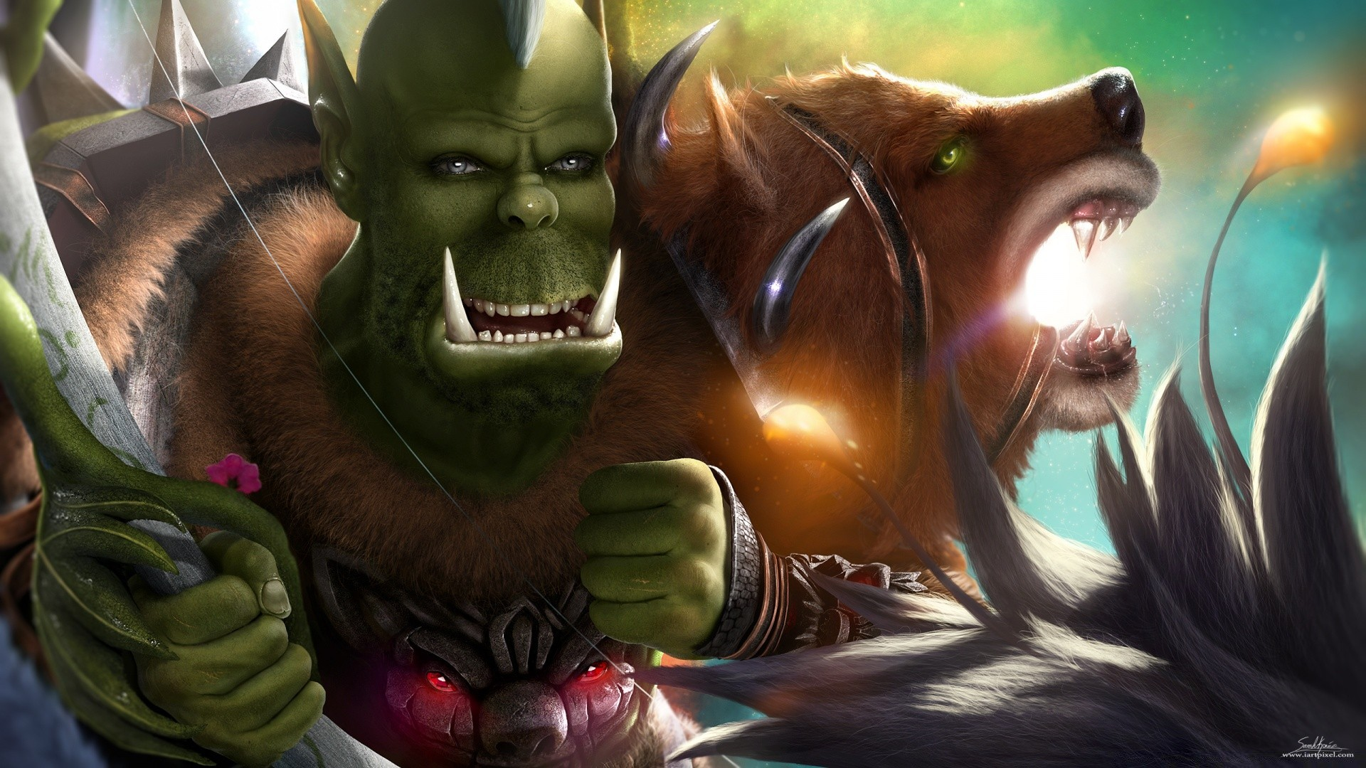 Orc Hunter World Of Warcraft Hd Wide Phone Wallpapers