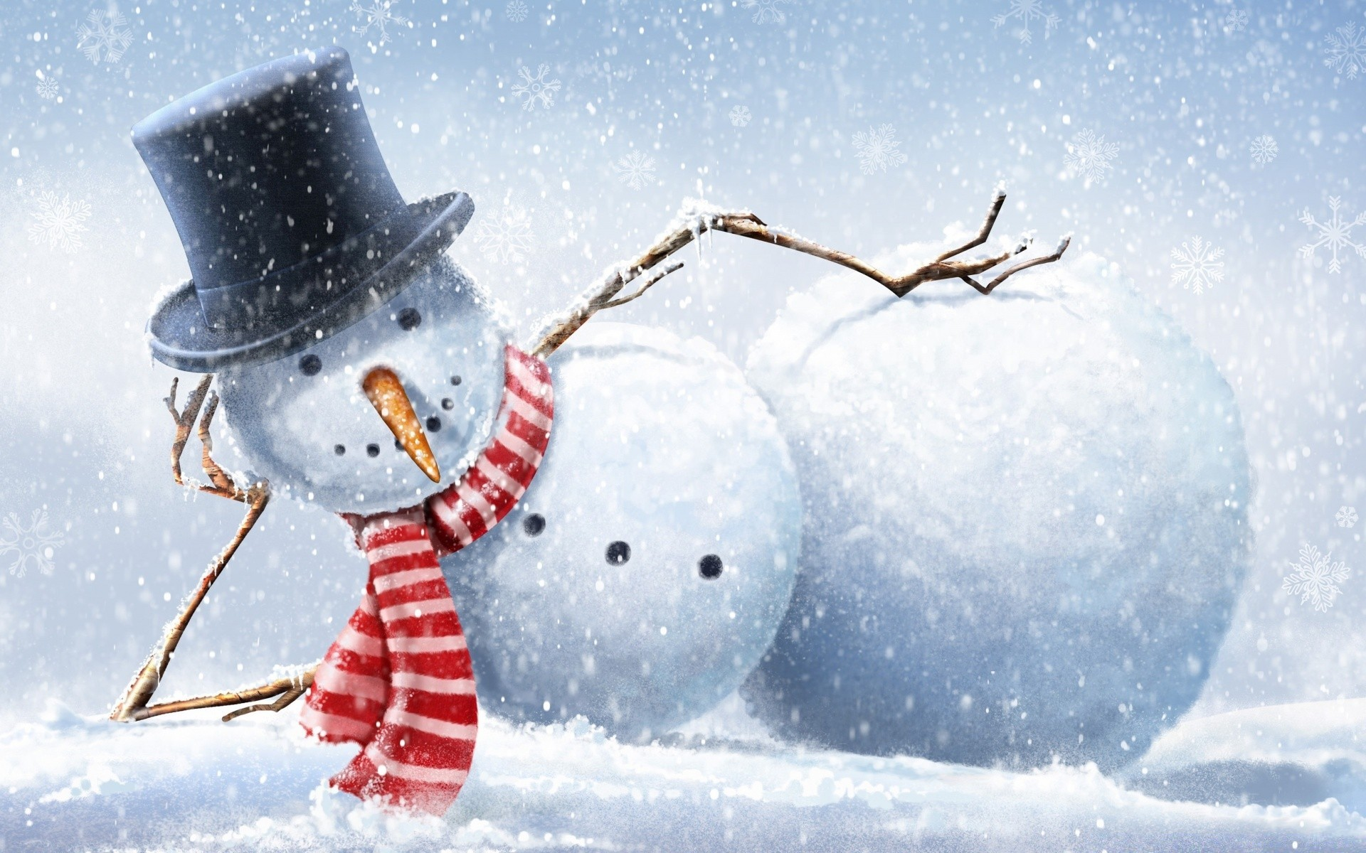 cool snowman. desktop wallpapers for free.