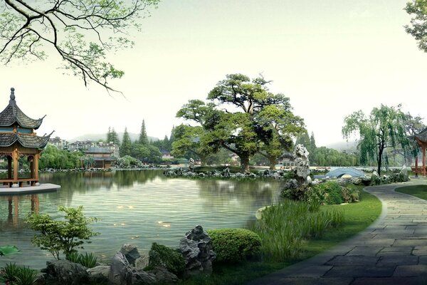 Park in Chinese style