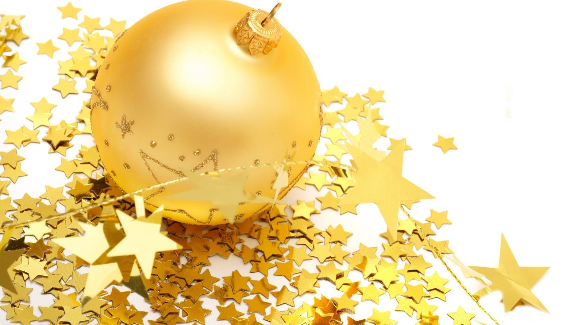 Gold ball and stars
