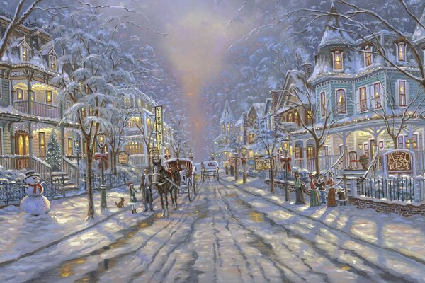 Winter Painting by Robert Finale