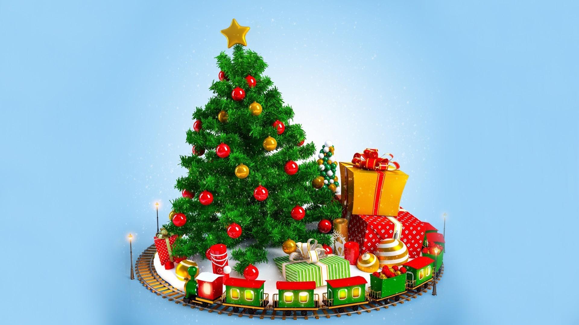 рождество, елка, игрушки, подарки загрузить
