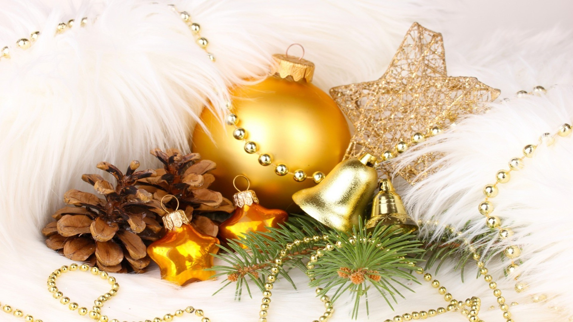 new year christmas decoration celebration winter gold thread traditional shining beads ball desktop gift merry glisten luxury season ornate
