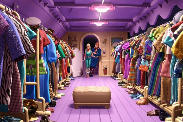 Toy Story 3 Barbie and Ken Scene